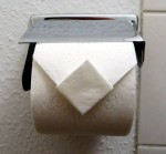 Toilet paper diamond fold