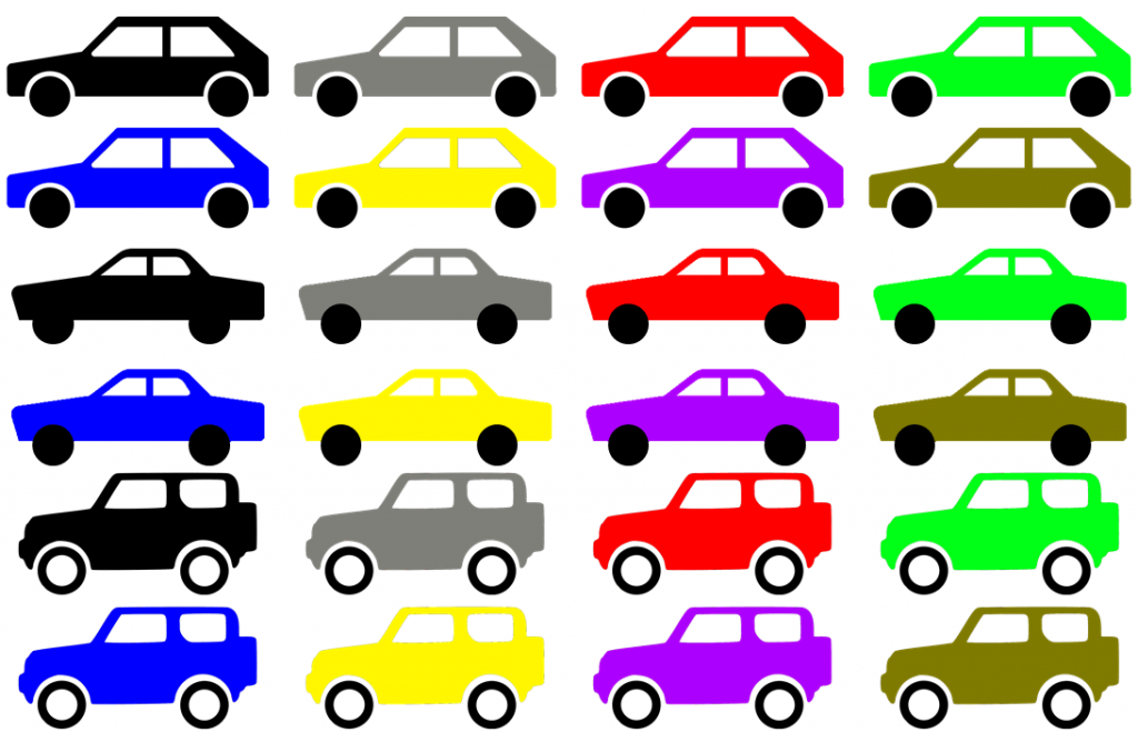 Array of cars