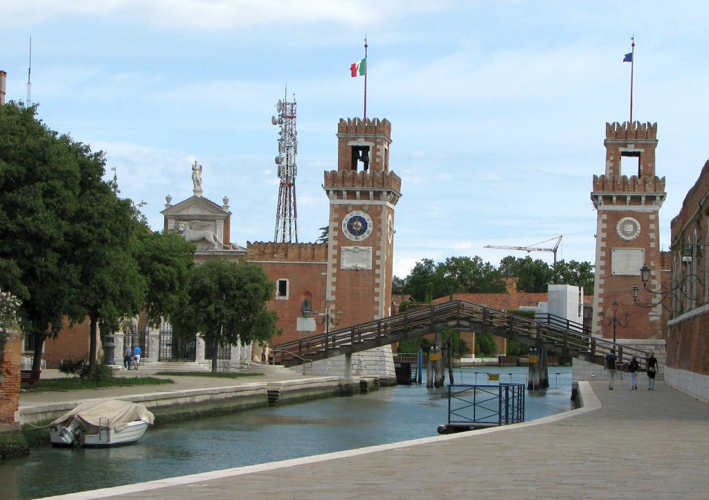 Water gate of the Arsenal of Venice