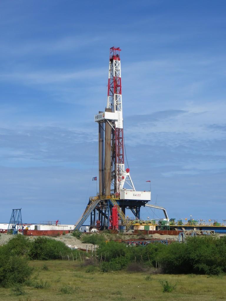 Large Oil Rig Cuba