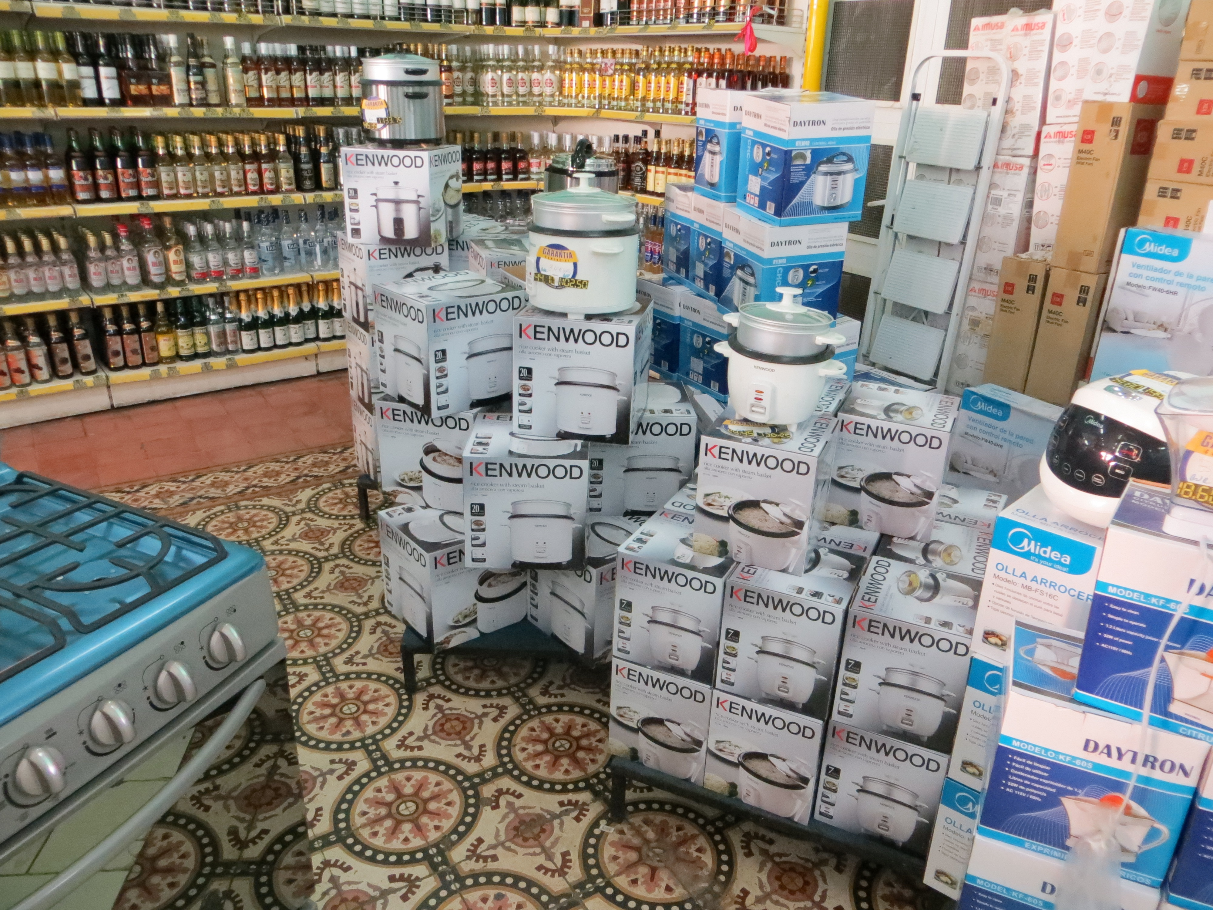 Rice cookers in Store in Cuba