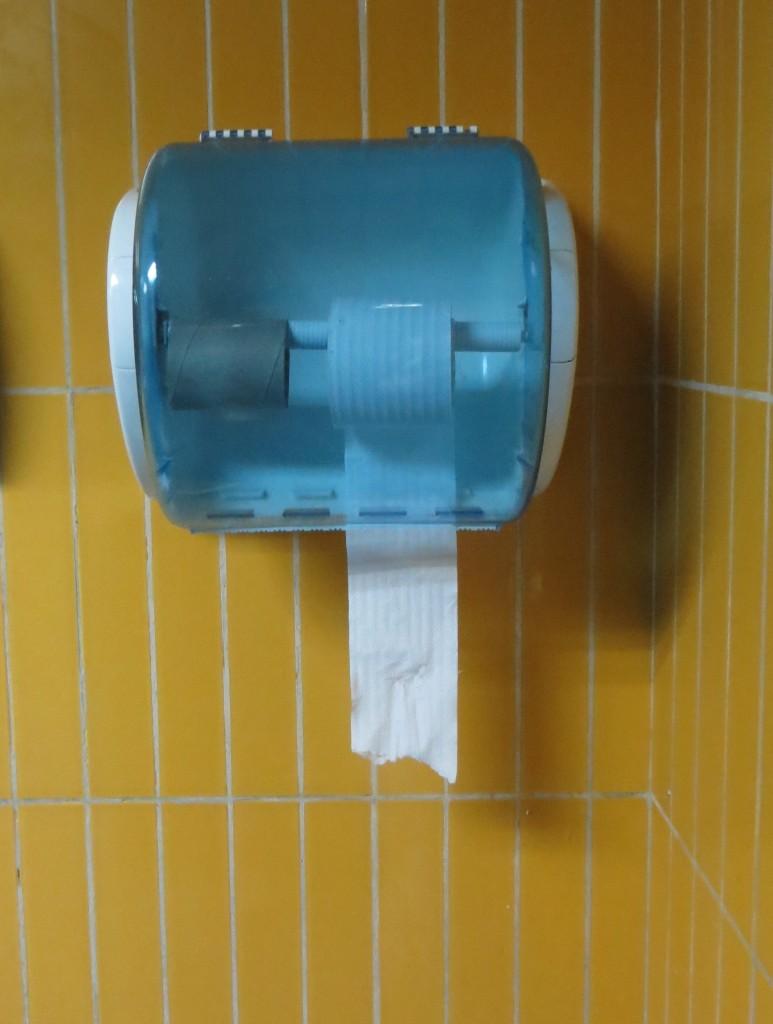 Toilet paper at Airport in Cuba