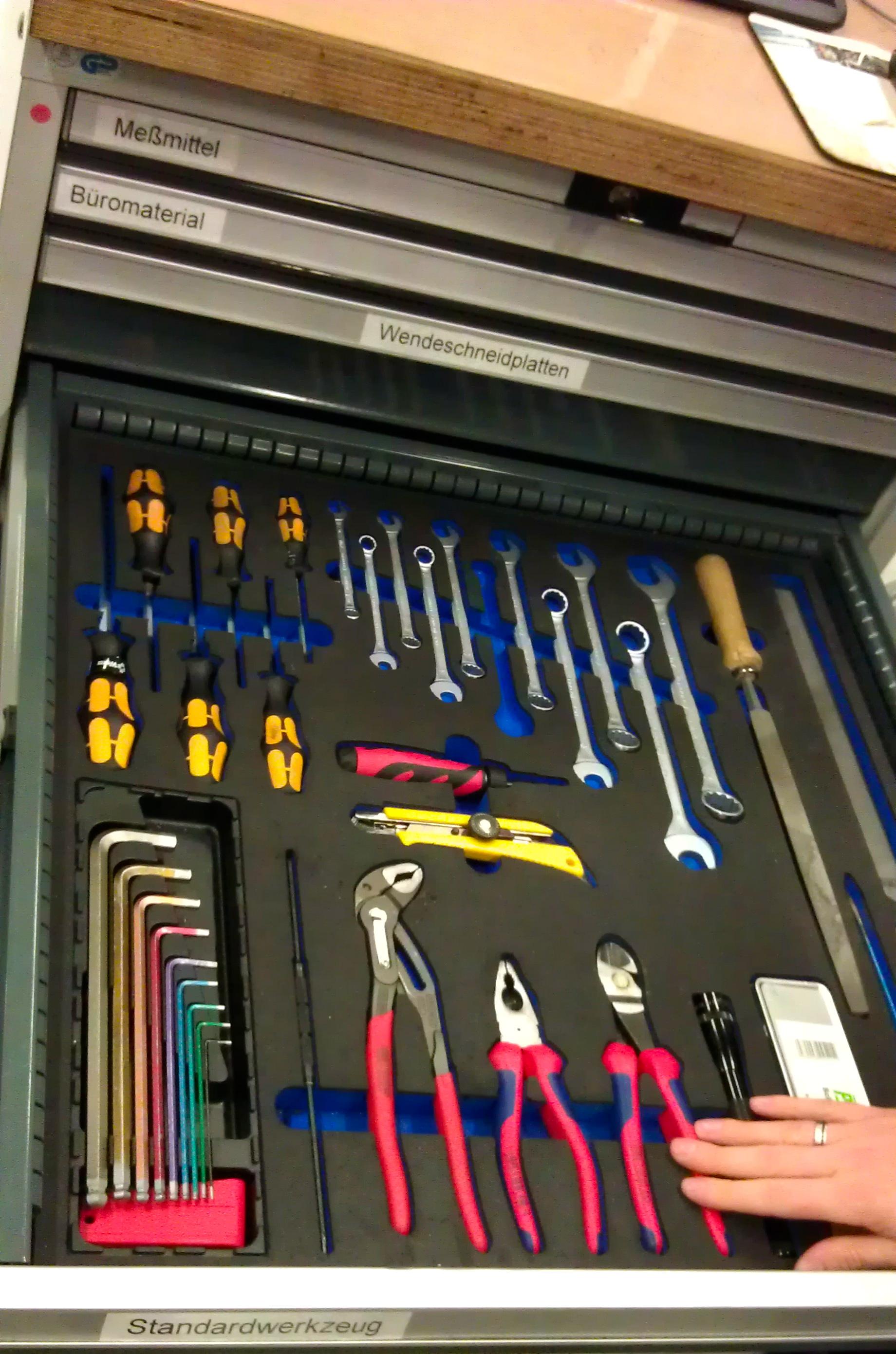 5S tool drawer
