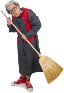 Grumpy janitor