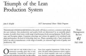 Triumph of the Lean Production System