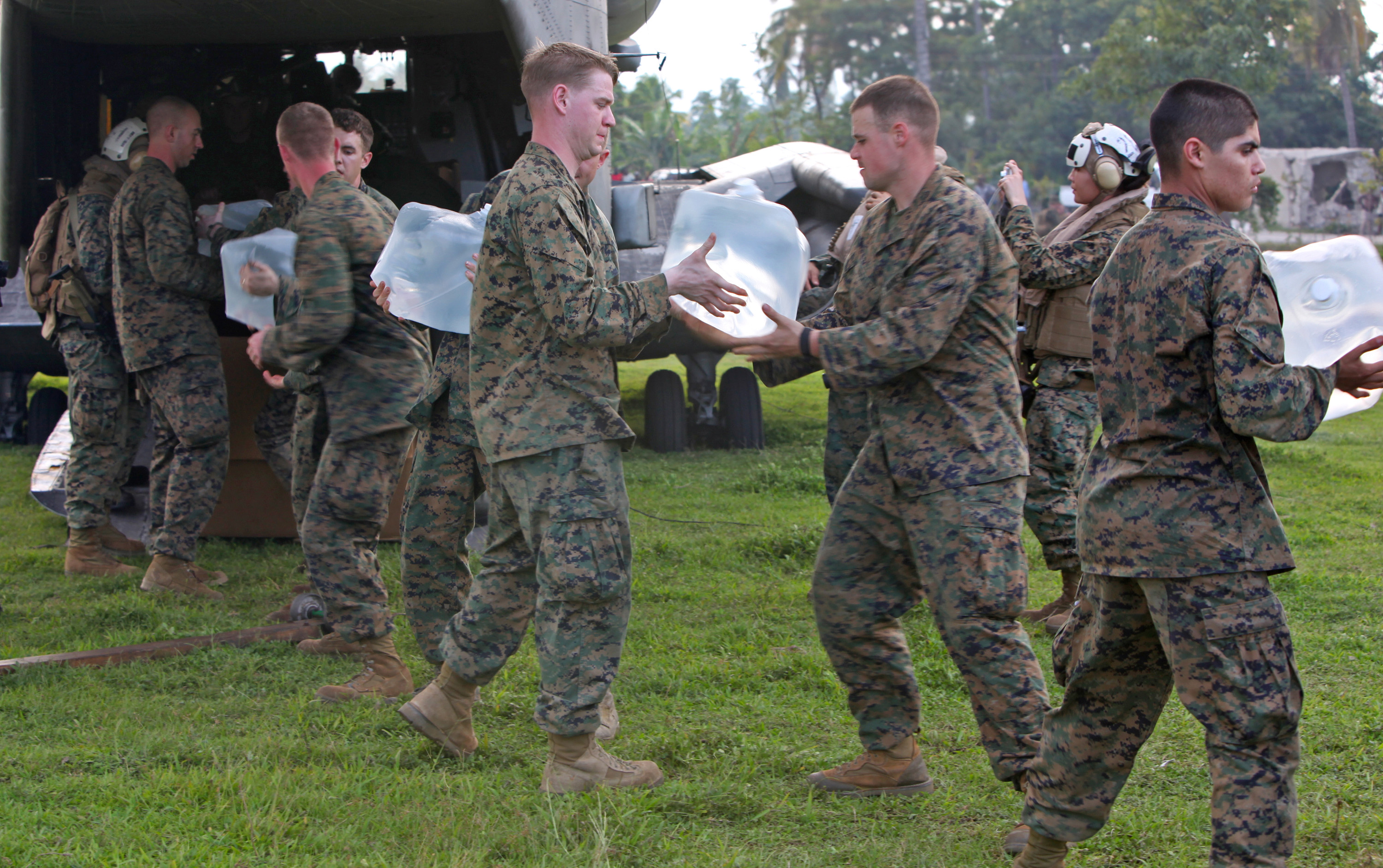 US Marines Bucket Brigade
