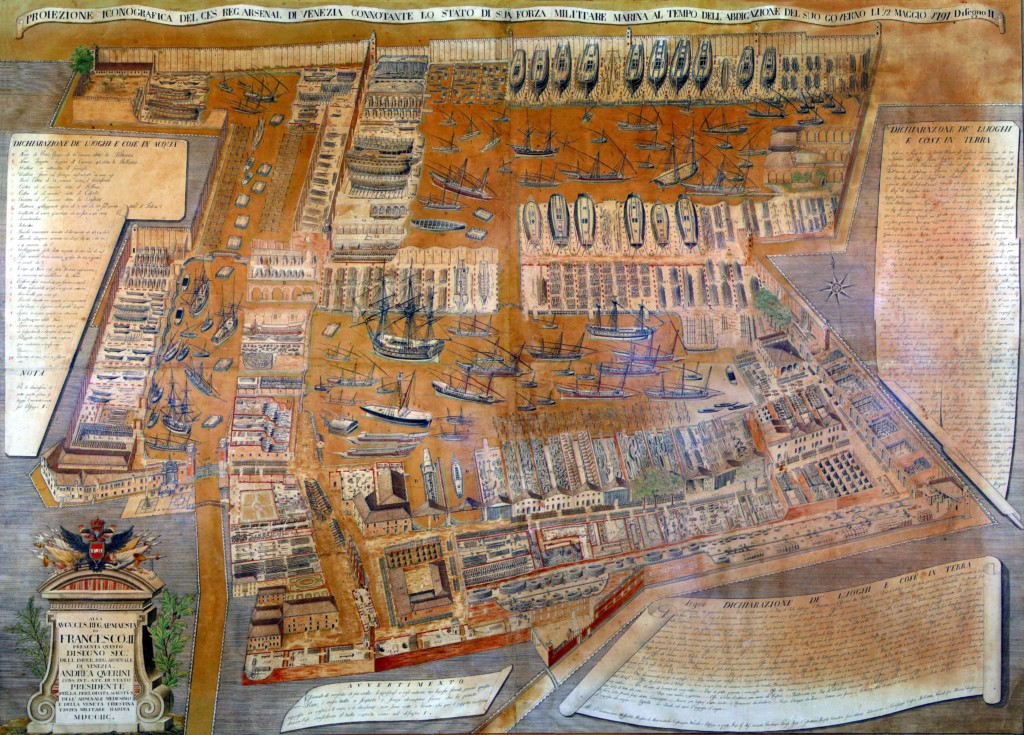 HighRes Map Arsenal of Venice 1797