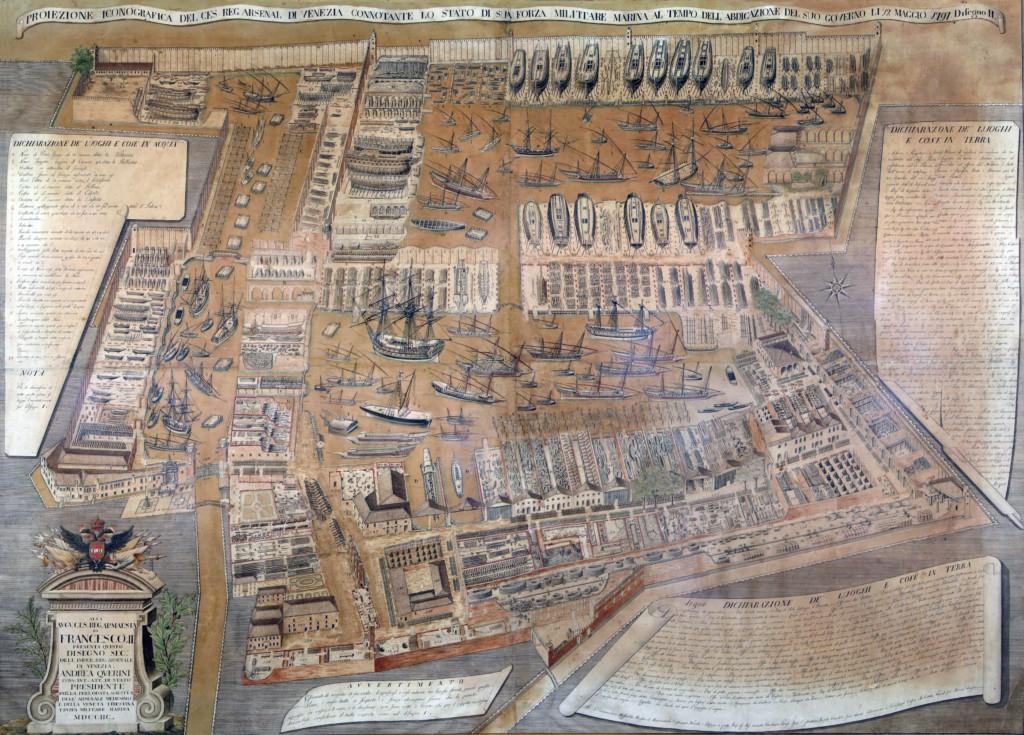 HighRes Map Arsenal of Venice 1797 Original