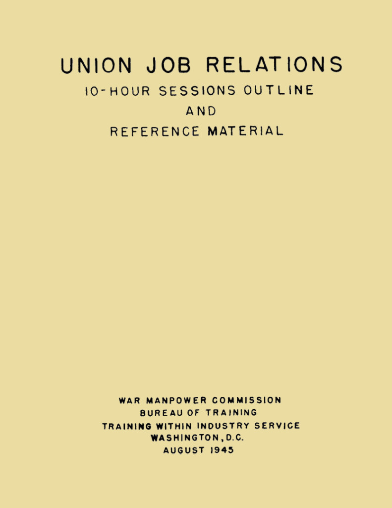 Union Job Relations cover