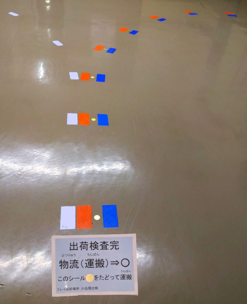 Color Coded Floor Markings