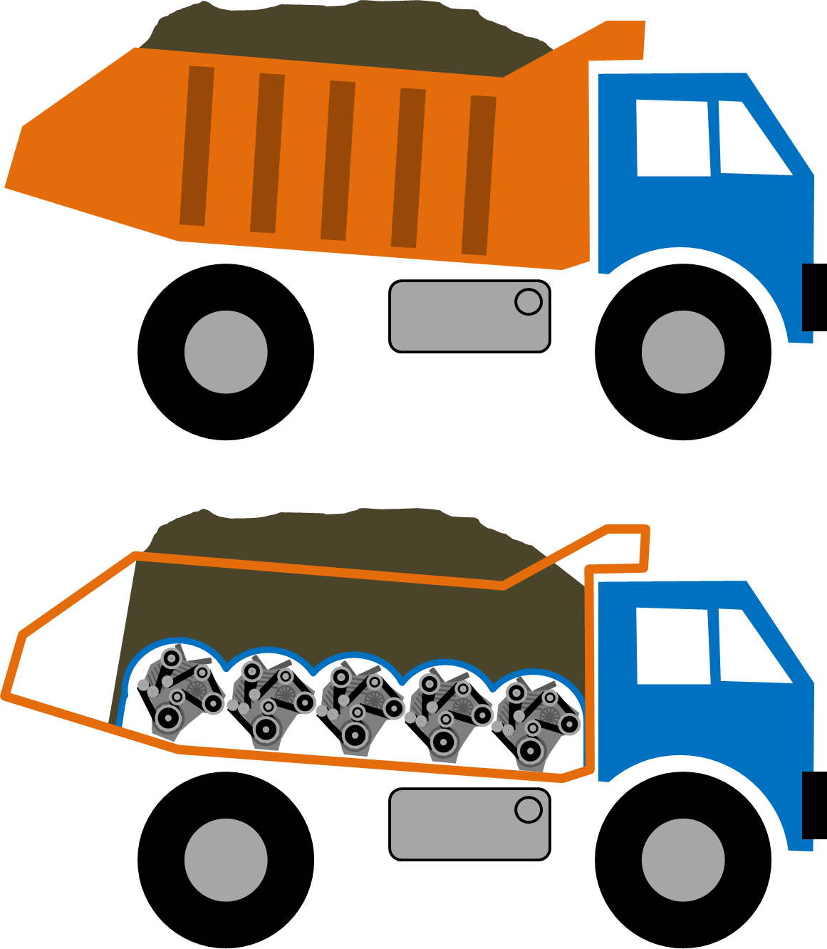 Dump truck Engine Theft