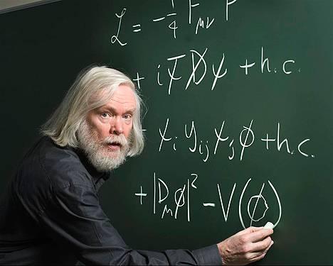 Scientist on Blackboard