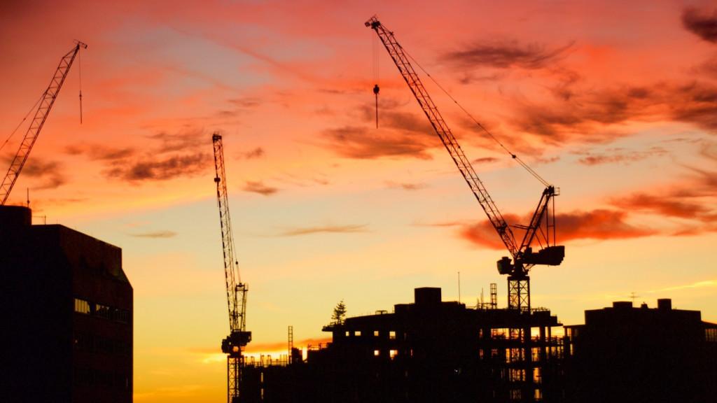 Skyline with Cranes