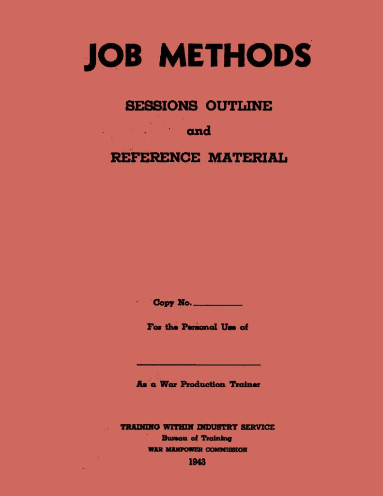 Job Methods Cover