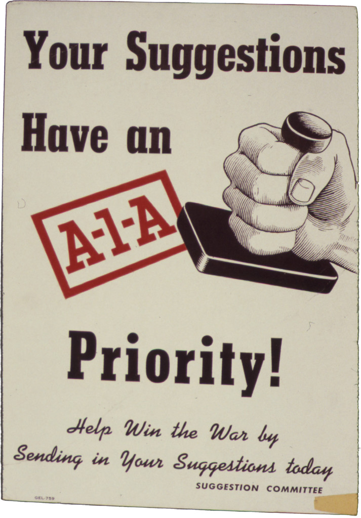 Your Suggestions have an A-1-A Priority