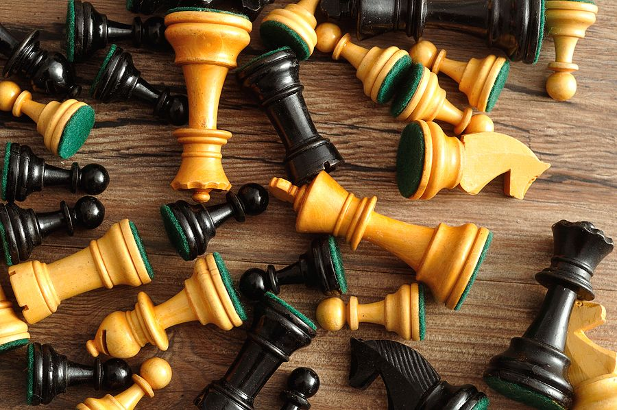 Jumbled Chess Pieces