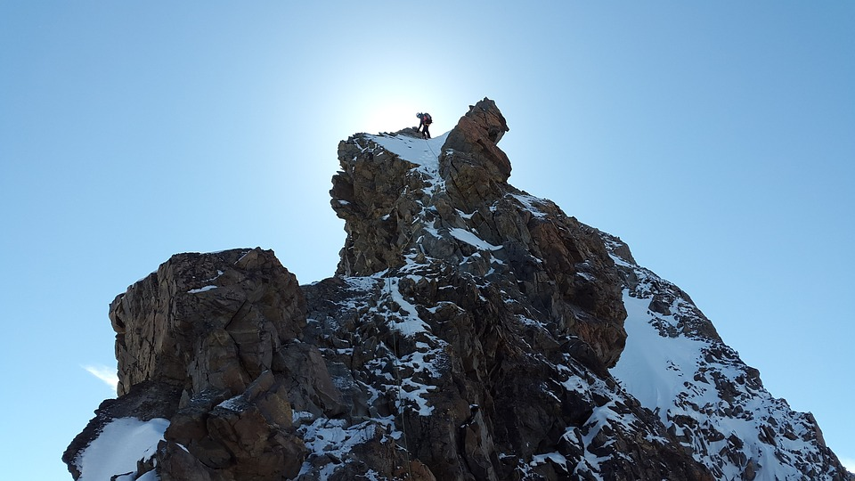 Climber on Summit