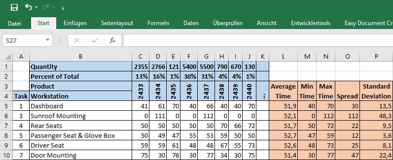 Excel Sample Station List