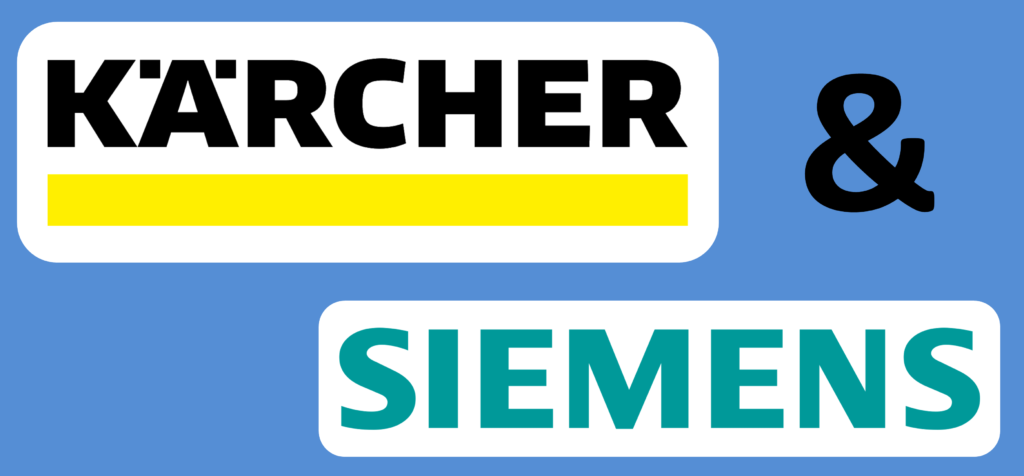 Logo Kärcher and Siemens