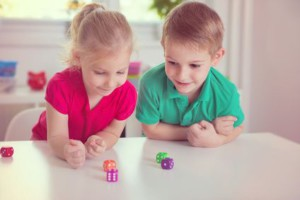 Kids with Dice