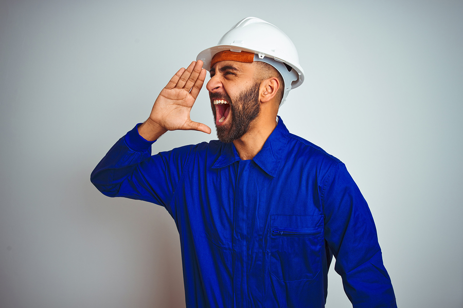 Shouting Worker