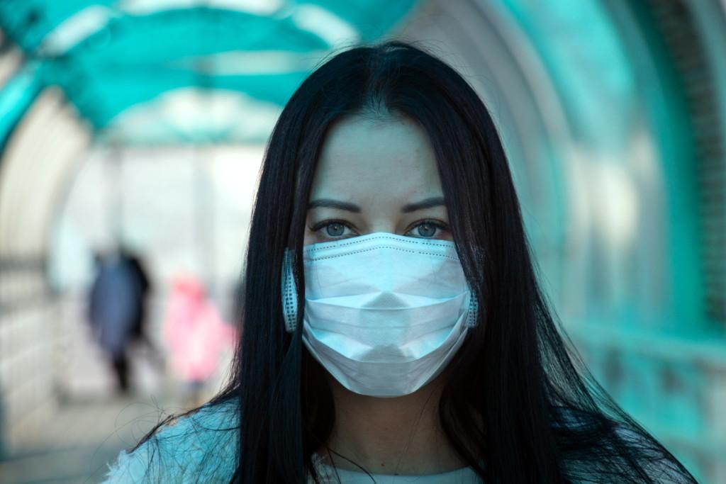 Corona - Woman with Mask