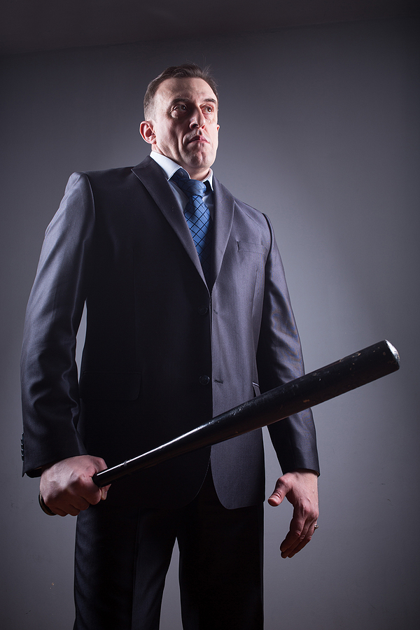 Manager with Baseball Bat