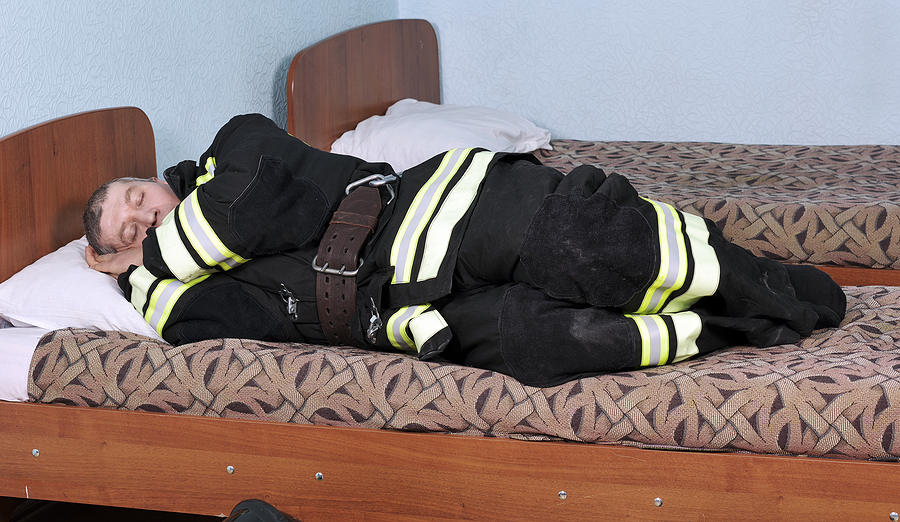 Dressed Sleeping Fireman