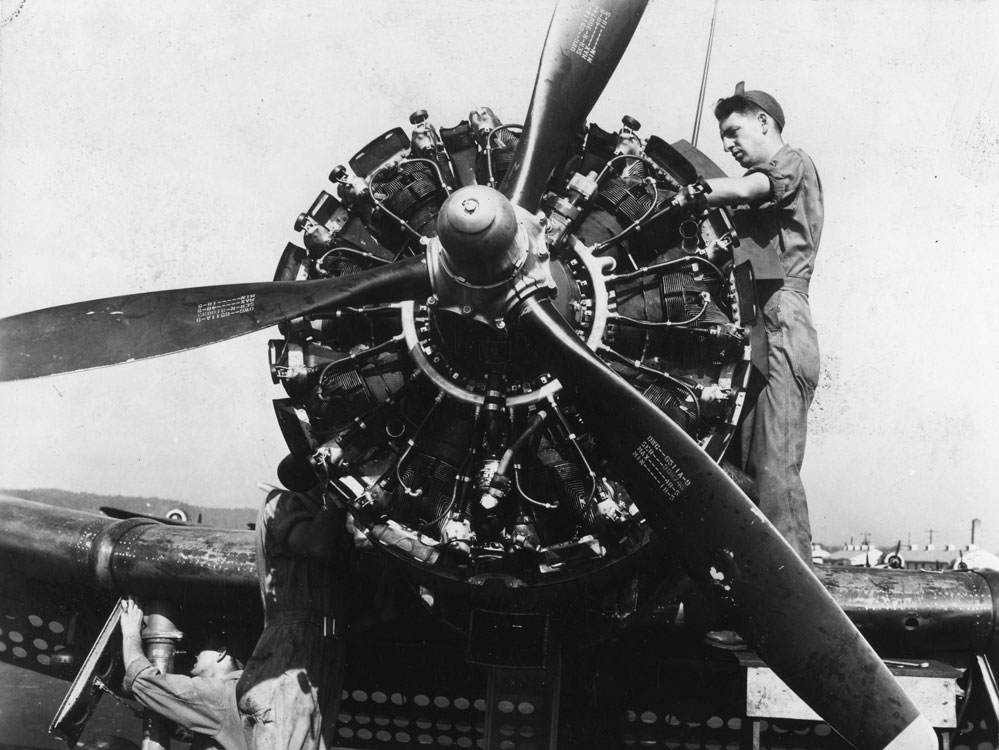 WW II Aircraft Maintenance