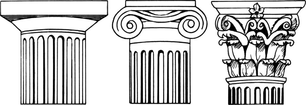 Doric, Ionic, Corinthian Capitals