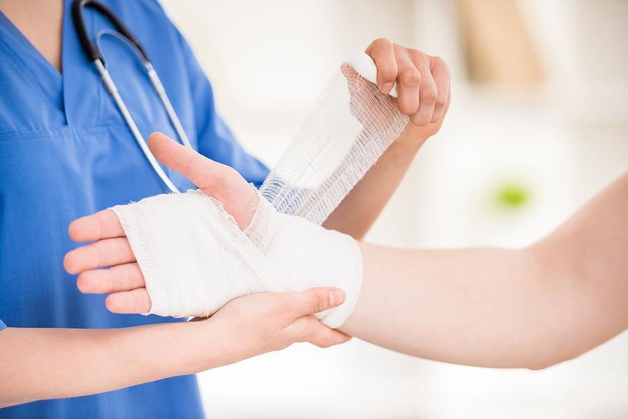 Bandage on Hand