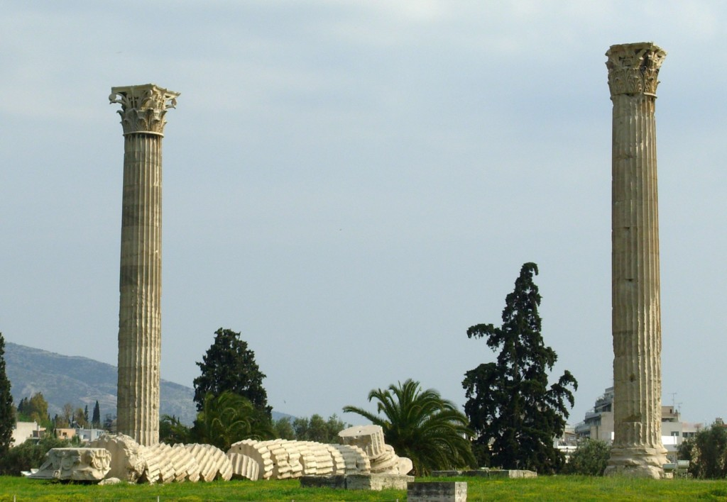 Temple of Zeus collapsed column
