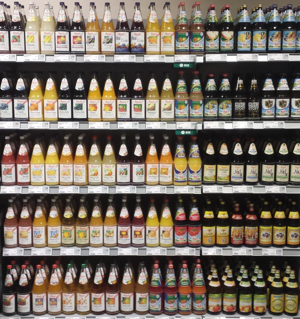 Bottles in a Retail Supermarket